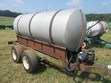 (5504) 1000 Gallon Double Axle Nurse Tank