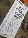 (5704) 4' Step-In Fence Post