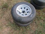 (5684) 2--205/75R14 Trailer Rims/Tires