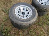 (5685) 2--205/75R14 Trailer Rims/Tires