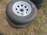 (5686) 2--205/75R14 Trailer Rims/Tires