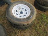 (5683) 2--225/75R15  Trailer Rims/Tires