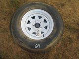 (5682) 2--225/75R15  Trailer Tires/Rims