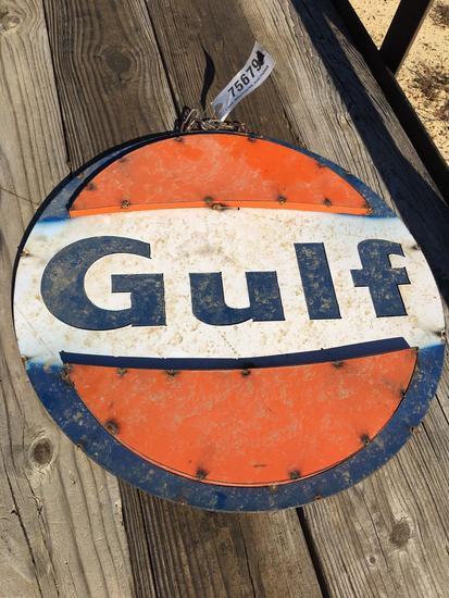 GULF GAS METAL SIGN