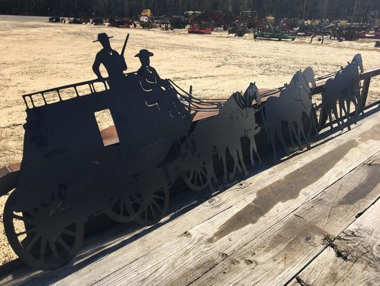 STAGECOACH METAL CUT OUT