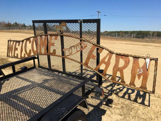 WELCOME TO THE FARM METAL SIGN