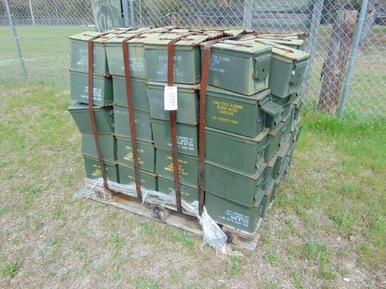 120 BOXES OF AMMO BOXES 5.56MM ON PALLET