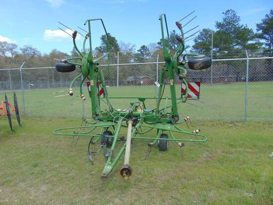 2004 KRONE KW550/4X7T HAY TEDDER