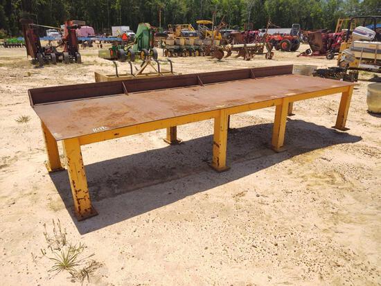 STEEL TABLE 46IN X 13FT LONG