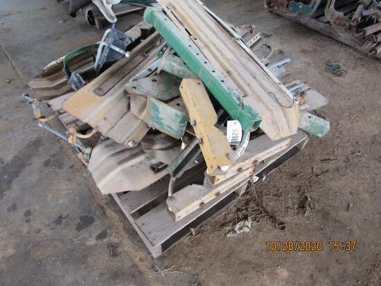 PALLET OF BUFFALO SHIELDS AND MISC PARTS