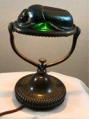 Tiffany Studios Scarab Lamp & Art Glass