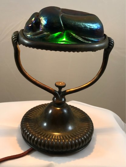 Tiffany Studios Scarab Desk Lamp