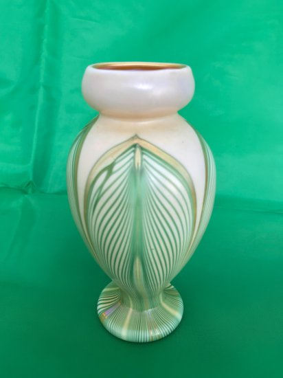 """Kew-Blas """"Pulled Feather Glass"""" Cabinet Vase"""