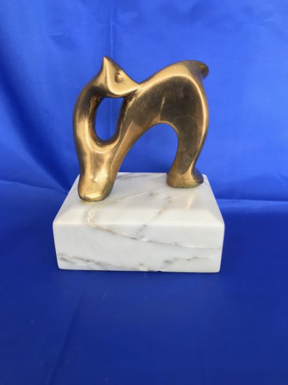 Hattakitkosol Somchai Mid Century Abstract Bronze Sculpture