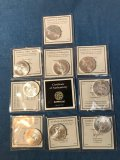 (10) 2015 American Eagle silver coins
