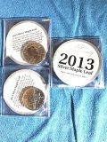 (10) 2013 $5 Silver Maple Leaf 25th Anniversary 1 oz fine silver coins