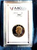 1971 S Eisenhower dollar, graded PR67 by AACGS
