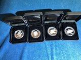 (4) 2014 & 2015 Australian Wedge Tailed Eagle 1 oz silver coins