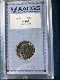 1946 Booker T Washington half dollar, AACGS MS62