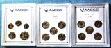 (3) AACGS slabs: (2) quarter sets and 1968 5 coin set