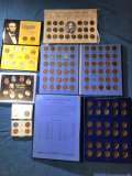 Whtman Lincoln Head Cent collection 1941, #2 ( 1 full, 1 partial), a 3 steel penny set and (3) cent