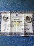 10 grams of silver ingots