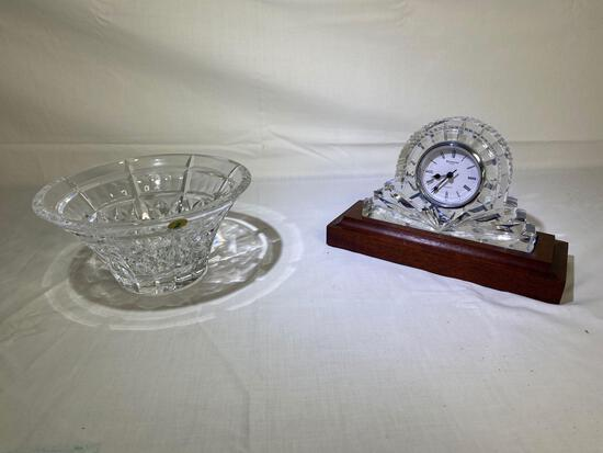 Waterford Welcome Bowl & mantel clock