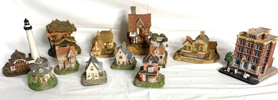 Fraser Creations, John Hine, Danbury Mint, Boyds Town Village and other cottage figurines