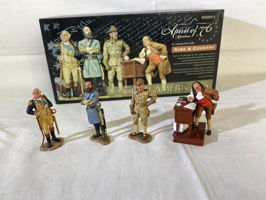The Great Americans hand-painted pewter figures