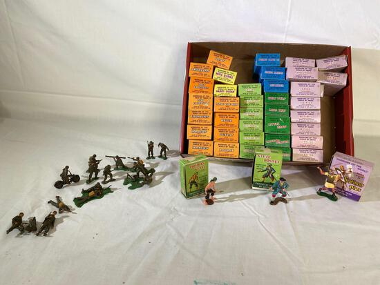 Marx Toys hand -painted Warriors of the World toy soldiers