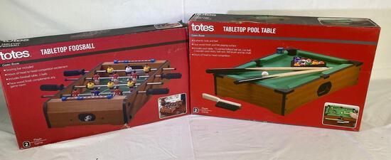Totes table top foosball & table top pool games