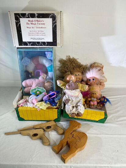 Cabbage Patch dolls, Magic Kits and wood camel puzzle