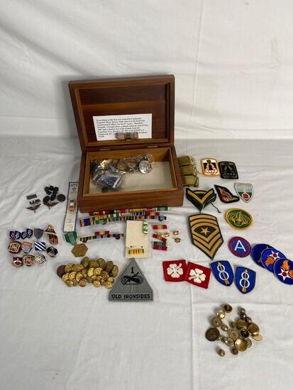 US Army medals, ribbons, badges and buttons