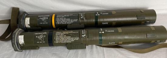 (2) Bazookas, for display only (disarmed)