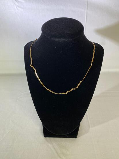 """18"""" 14K gold chain, 6.3 grams (clasp is not gold)"""