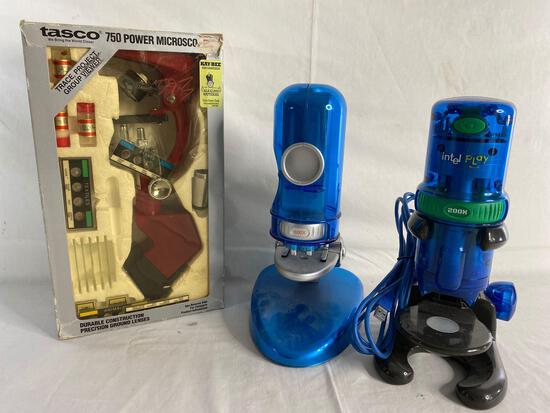 Tasco 750x , intel play 200x and other microscope