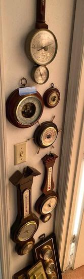 (8) barometer / thermometers