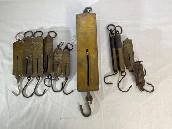 Detecto and other hand held spring balance scales