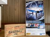 Sportcraft turbo air hockey & Tudor True-Action electric baseball game