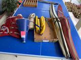 Obrien & Tech-1 slalom skis, life vests, megaphone