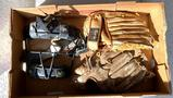Hutch catcher's mask, Spalding and Revelation mitts