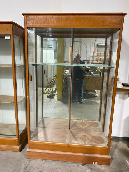"""Glass front cabinet 18""""x49""""x82 1/2"""""""