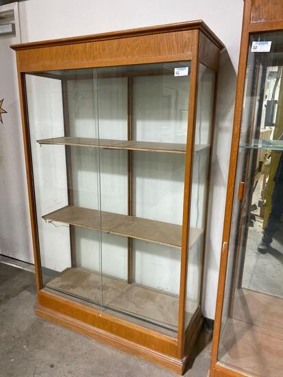 """Glass front cabinet 18""""x50""""x80"""""""