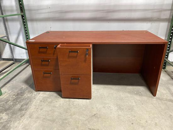 "Cherry laminate desk 30"" x 66"""