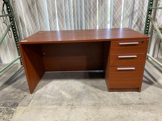 "Cherry laminate desk 29 1/2"" x 59"""