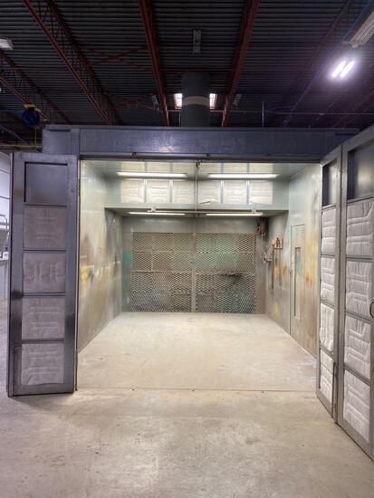 COL-MET Model IB-12-08-07, 20' x 12' enclosed industrial, single access spray booth