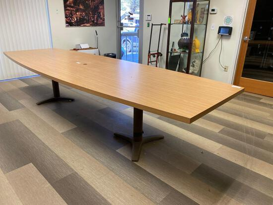 Oblong laminate conference table 12'x4'
