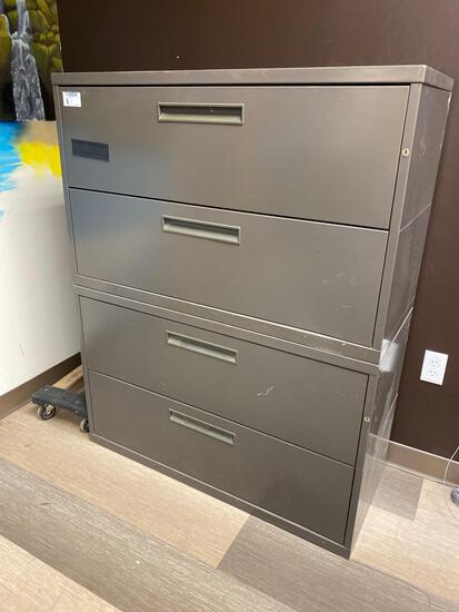 (2) 2-drawer lateral filing cabinets
