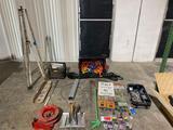 Tripod, hose reel and hardware
