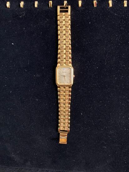 Bulova gold-tone watch